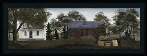 Sweet Corn for Sale by Billy Jacobs Primitive Folk Art Farm 33x13 in Framed Art Print (Folk Art Farm)