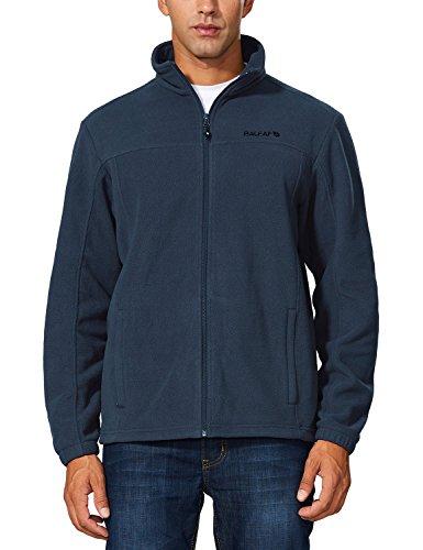 Baleaf Men's Outdoor Fleece Jacket Full Zip Thermal Blue Size XXXL