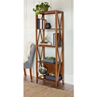 Bookcases 5-Tier Shelving Unit | 10 Spring Street Winslow Bookcase Caramel