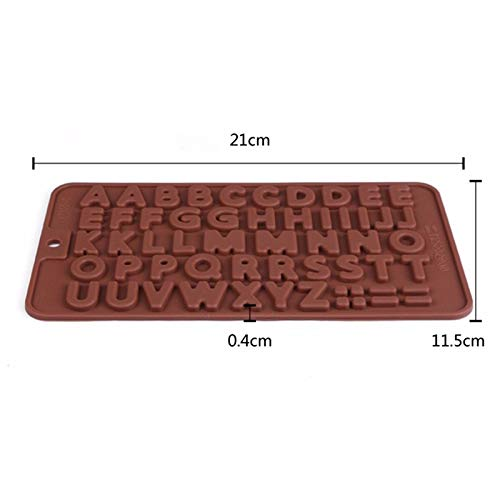 1 piece 1 pc 3D Double 26 Letters Shape Or 0-9 Numers Chocolate Molds Happy Birthday Words Cake Mold Pudding Dessert Decoration