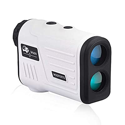 WOSPORTS Golf Rangefinder, Laser Range Finder with 650 Yards Range, Slope, Vibration, Distance/Speed/Scan/Angle Measurement - W600AG