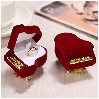 Tinksky Piano Bague Box Boucles doreilles Bo/îte de rangement /à bijoux bo/îte cadeau support Cadeau Bijoux Coque