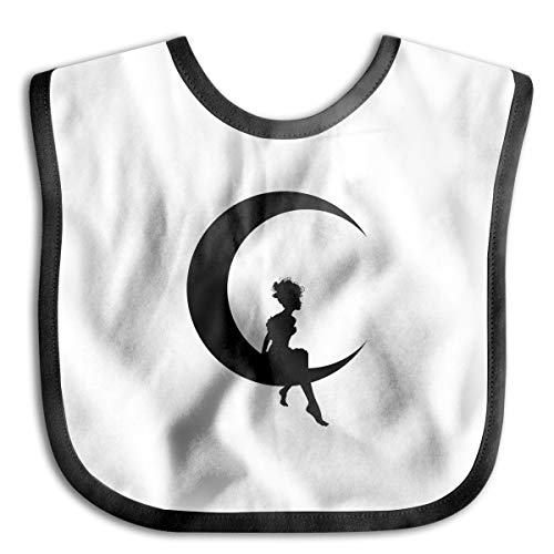 - Crescent Moon Drooling Bibs Teething Bib for Baby Boys Girls Organic Cotton White