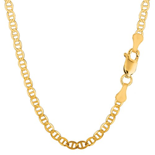 """10k Yellow Gold Mariner Link Chain Necklace, 4.5mm, 20"""""""