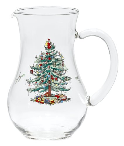 (Spode Christmas Tree Glass Pitcher)