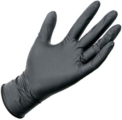 Pausseo Black Disposable Nitrile Gloves product image