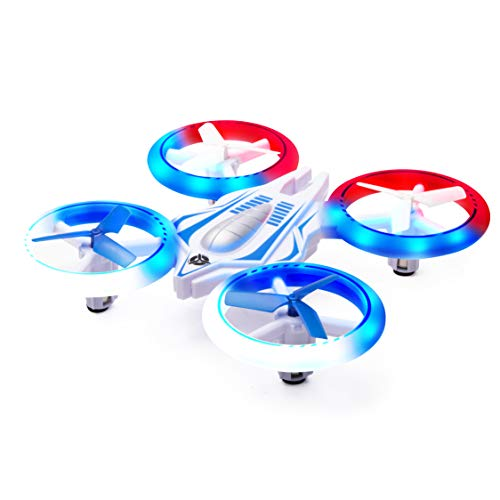 Force1 Mini Drone for Kids - UFO 4000 LED Drones for Kids, Small Drones for Beginners w/ 2 Mini Quadcopter Batteries and Easy Toy Drone Remote Control (Best Rated Remote Control Helicopter)