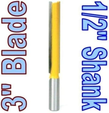 """NO LOGO ZZB-ZT, 1 Pc 1/2 Schaft extralange 3"""" 1/2"""" Cutting Dia.Gerade Fräser zum Holzschneider Zapfenschneider for die Holzbearbeitung (Size : 1 Pc 1/2)"""
