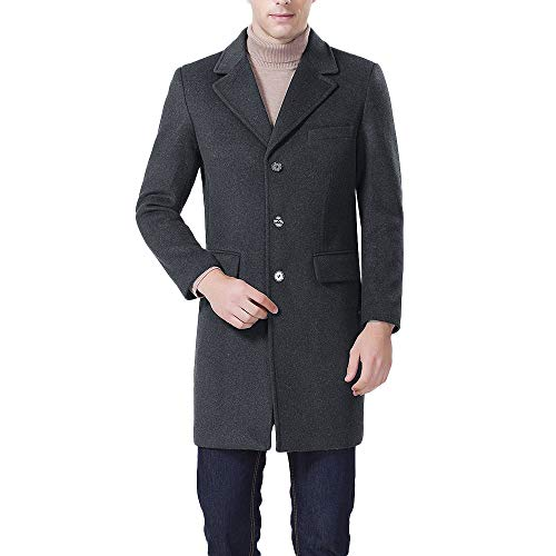 iHPH7 Men's Casual Wool Trench Coat Fashion Business