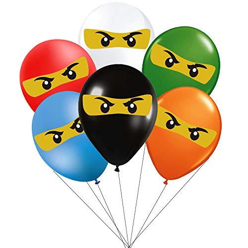 Ninjago Birthday Party Supplies Decorations Balloons - 36pcs Ninjago Party Favors fo Kids]()