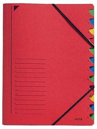 Colorspankarton Leitz 3912 Ordnungsmappe gelb 12 Fächer