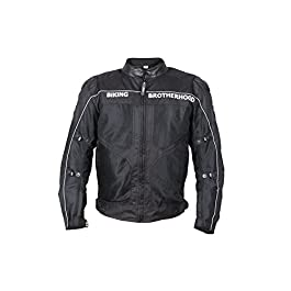 Biking Brotherhood Ladakh All Season Textile Riding Jacket (Black_XX Large)
