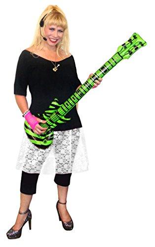 Punk Rocker Chick Costume (Rocker Chick White Lace Plus Size Supersize Halloween Costume Deluxe Kit 9x)