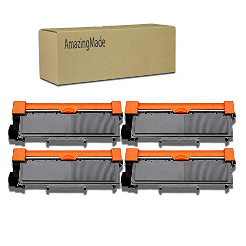 AmazingMade Compatible Toner Cartridge Replacement for Brother TN630 TN660 (4-Pack),for use in HL-L2340DW HL-L2300D HL-L2380DW MFC-L2700DW L2740DW DCP-L2540DW L2520DW HL-L2320D MFC-L2720DW L2740DW