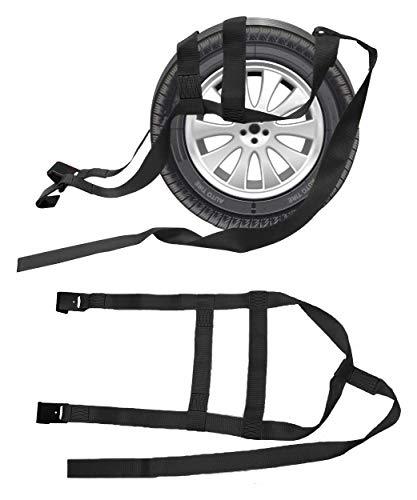 2X Car Basket Straps Adjustable Tow Dolly DEMCO Wheel Net Set Flat Hook Fits 17