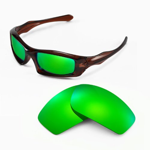 Walleva Replacement Lenses for Oakley Monster Pup Sunglasses - Multiple Options Available (Emerald Mirror Coated - Polarized) -