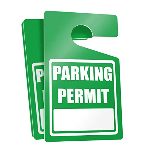 Parking Permit Hang Tags (Green) - 50 Tough Thick Re-Usable Weatherproof Passes for Car Or Vehicle Rear View Mirror/Perfect for Employees, Residents, Tenants and More 3