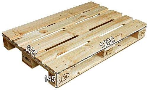 Dydaya 2 x Palets Europeos de1200 x 800 de Madera Lijados y Barnizados para Muebles y Decoración & Pallets para Cama, Somier, Estructura, Base (Madera ...