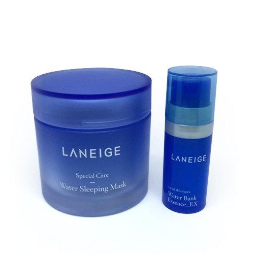 Laneige Water Sleeping Mask 2.37oz(70ml) + Laneige Water bank Essence_EX 0.34oz(10ml) (Laneige Water Sleeping Pack)