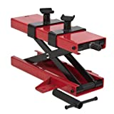Best Choice Products 1100 LB Motorcycle Dirt Bike ATV Scissor Center Jack Mini Lift Crank Floor Stand