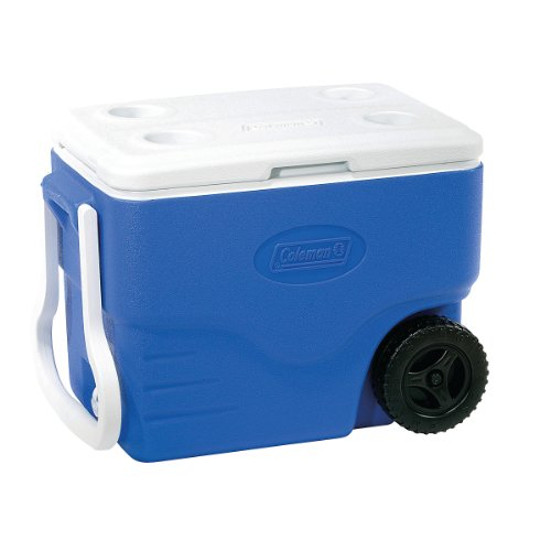 (Coleman 40 qt. Wheeled Cooler with Beverage Tray)
