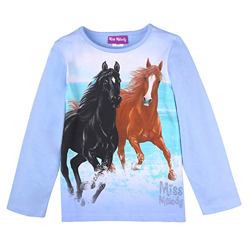 Miss Melody Meisjes T-shirt, shirt met lange mouwen, blauw