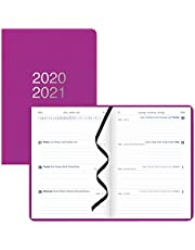 Letts Dazzle - Week to View Academic Planner, August 2020 to July 2021, Sewn Binding, Multilingual, 8.25 X 5.875 Inches, Purple (C031116-21)