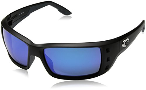 Costa del Mar Unisex-Adult Permit PT 11 OBMGLP Polarized Iridium Wrap Sunglasses, Matte Black, 61.5 - Del Costa Where Mar Is