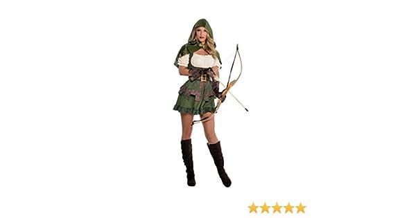 Amakando Vestimenta Mujer de los bosques Disfraz Sexy Robin Hood ...