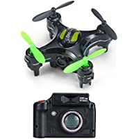 RC Quadcopter Drone RC Pocket Drone Original D2 2.4G 4CH 6-Axis Gyro RC mini Quadcopter RTF Pocket Drone with 2MP Camera One-key Return Headless mode 3D-flip Helicopter Funny Outdoor Sport Toy (Black)