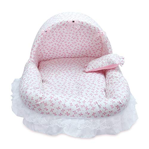 Amazon.com : FLAMINGO_STORE Dog Bed cat Bed Comfortable Dog Lovely Bed Soft PP Cotton Pet Princess Bed Washable Warm Puppy Cat Cute House Kennel Pet ...