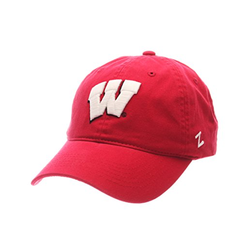 ZHATS NCAA Wisconsin Badgers Men's Scholarship Relaxed Cap, Adjustable, Red