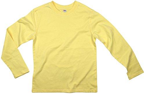Earth Elements Big Kid's (Youth) Long Sleeve T-Shirt Large Lemon