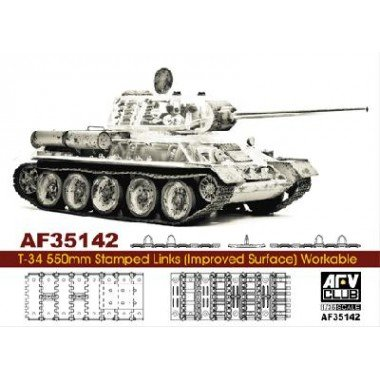 - T-34 550mm Workable Stamped Track Links (Improved Surface) 1-35 AFV Club