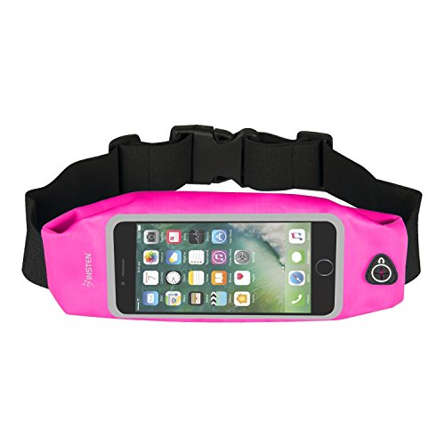 INSTEN Running Belt Fanny Pack, Water Resistant Sweatproof Reflective Waist Pack Running Pouch Bag Touch Screen Window Compatible with iPhone 8 Plus /7 Plus/Galaxy S8/LG G6 (Size: 6.5