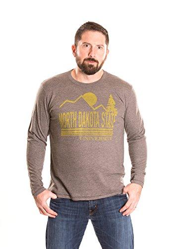 Alma Mater NCAA North Dakota State Men's Long Sleeve T-Shirt, Small, Charcoal