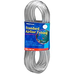 Penn Plax Airline Tubing for Aquariums -Clear and Flexible Resists Kinking, 25 Feet Standard