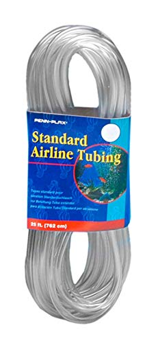 Penn Plax Airline Tubing for Aquariums Clear and Flexible Resists Kinking, 25 Feet Standard