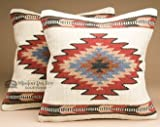 Mission Del Rey Pair Southwest Wool Pillow Cover 18x18 -Papago Style