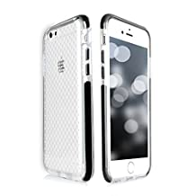 iPhone 6S Plus Case, iPhone 6 Plus Case, FYY [Patent Shockproof] Ultra Slim Fit Hybrid Clear Bumper Case Soft Silicone Gel Rubber Shockproof Impact Resistance Cover for iPhone 6S Plus/6 Plus Black