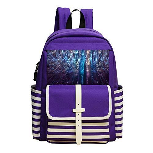 Astigmatic Point Schoolbag Large Primary School Leisure Bag Children'S Backpack Purple