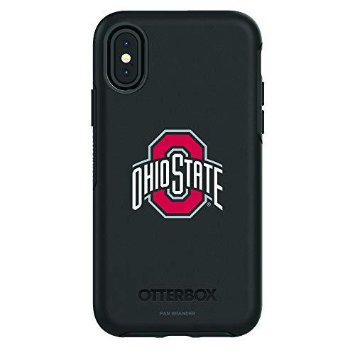 - Fan Brander NCAA Black Phone case, Compatible with Apple iPhone X and Apple iPhone Xs and with OtterBox Symmetry Series (Ohio State Buckeyes)