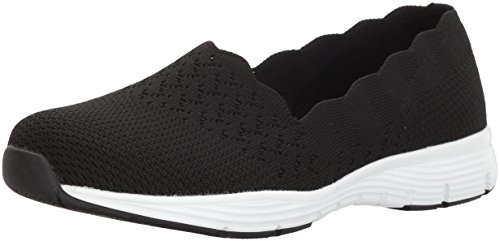 Fit Womens Skechers Knit Engineered Stat Classic Skech Collar Seager Black Slip Scalloped On Fdw1xrdPq
