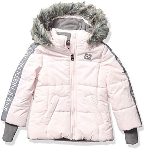 Calvin Klein Big Girls Glacial Puffer Jacket, Dogwood Pink, M8/10