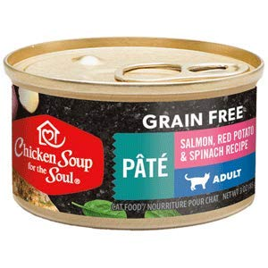 Chicken Soup Grain Free Salmon Pate with Red Skinned Potatoes & Spinach Canned Cat Food 24/5.5oz