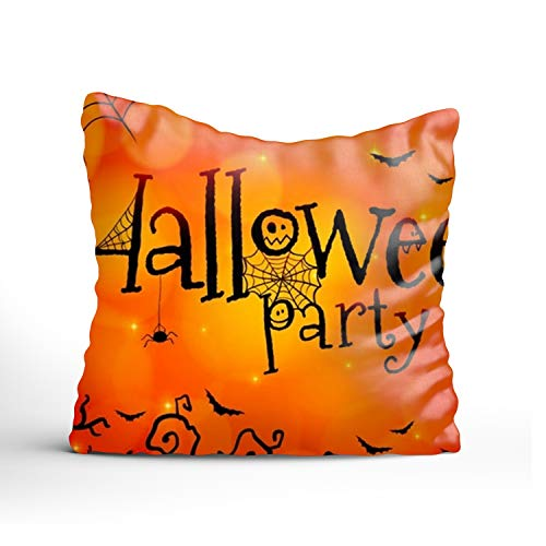 farg Halloween Paty Show Print Cushions Case Ideal Household Pillowcase Zippered Pillow Covers 20x20Inch ()