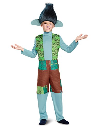 Halloween Troll Costumes (Branch Deluxe W/Wig Trolls Costume, Multicolor, X-Small (3T-4T))