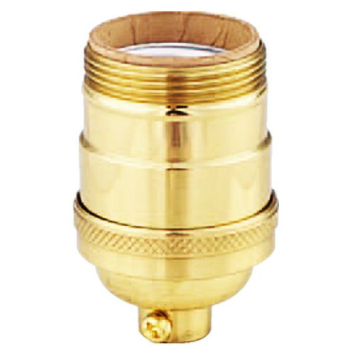 - Keyless Solid Brass - Heavy Duty - Short - Medium Base Socket - 1/8 IPS - PLT D697