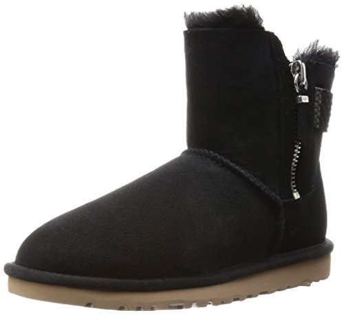 UGG Australia Women's Aztek Woven Boot, Black Twin Face, 7 B - - Uggs Zipper With