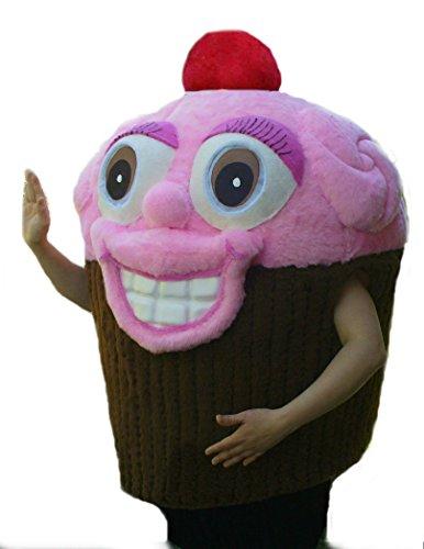 cjs huggables Mascots USA Custom Pro Low Cost Pink Cupcake Mascot Costume]()